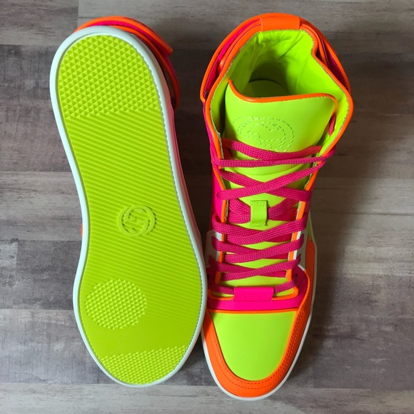 Gucci Shoes | Gucci Neon Sneakers